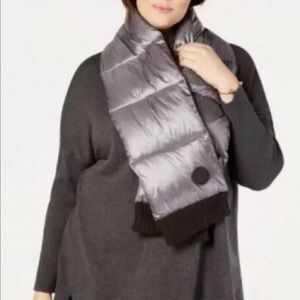 DKNY Charcoal Quilted Puffer Scarf